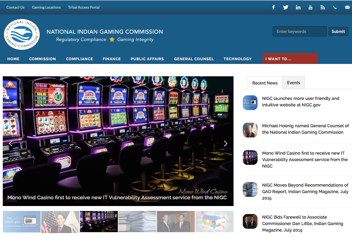 National Indian Gaming Commission unveils redesign of website