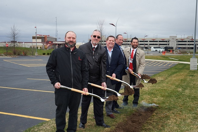 Nottawaseppi Huron Band breaks ground on gas station by casino