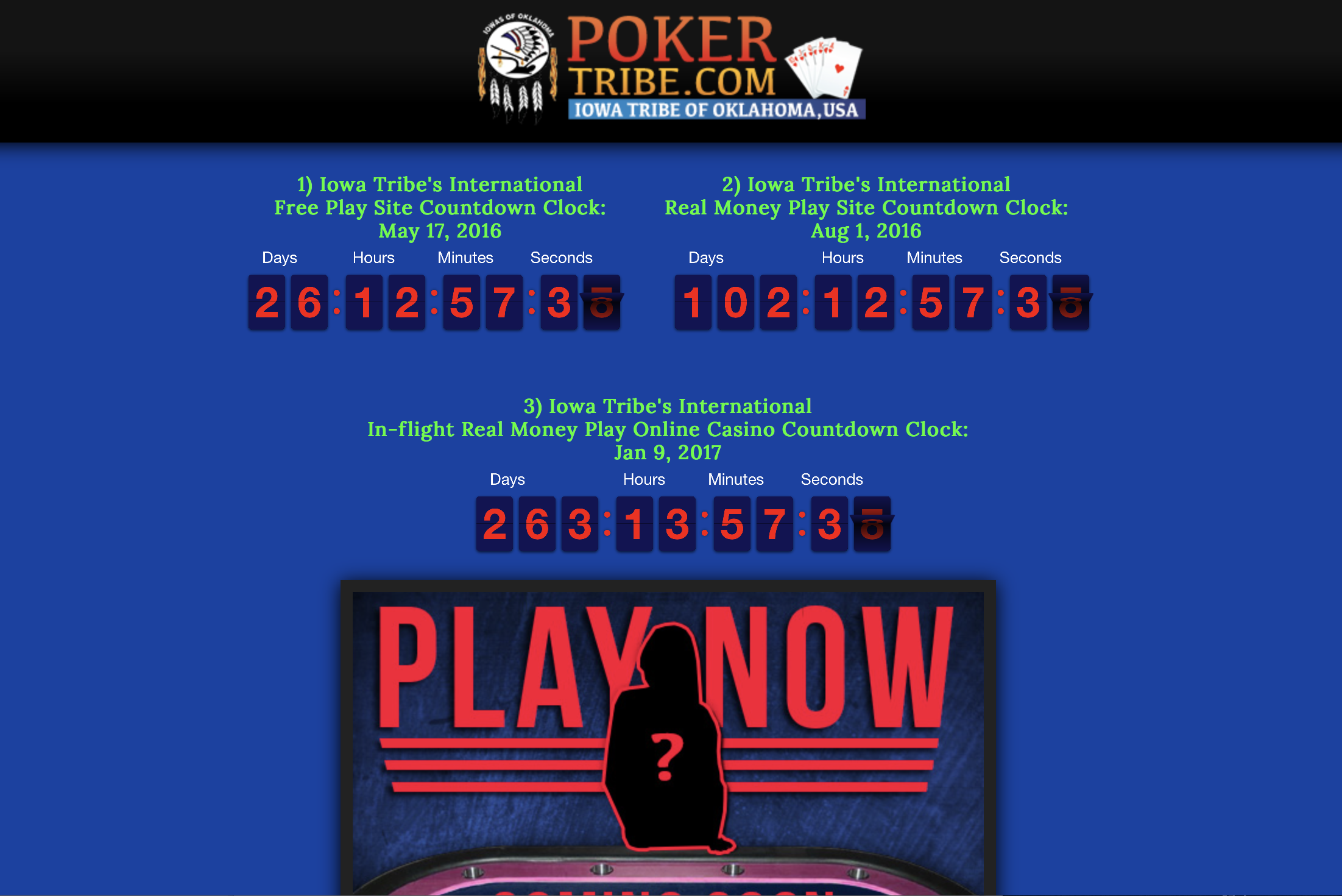 Iowa Tribe aims to be first in Indian Country with poker website