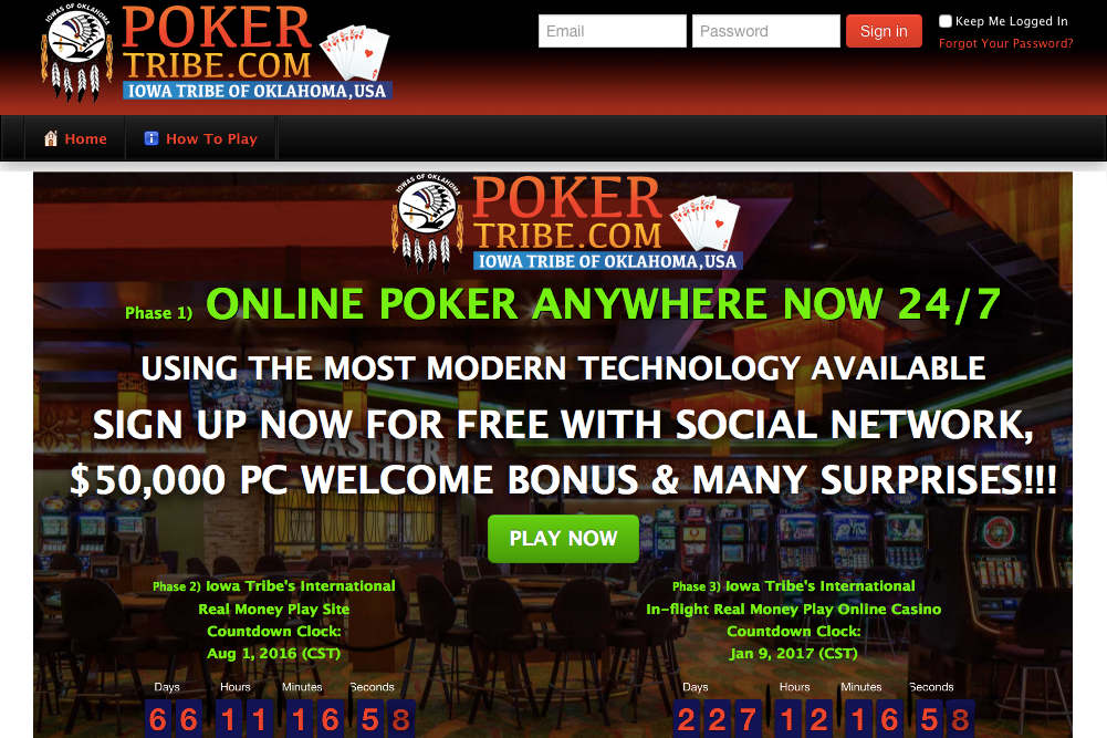 Iowa Tribe offers free play on poker website ahead of full launch