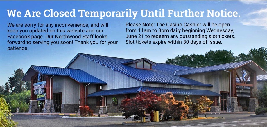 Nooksack Tribe accepting slot tickets while casino remains closed