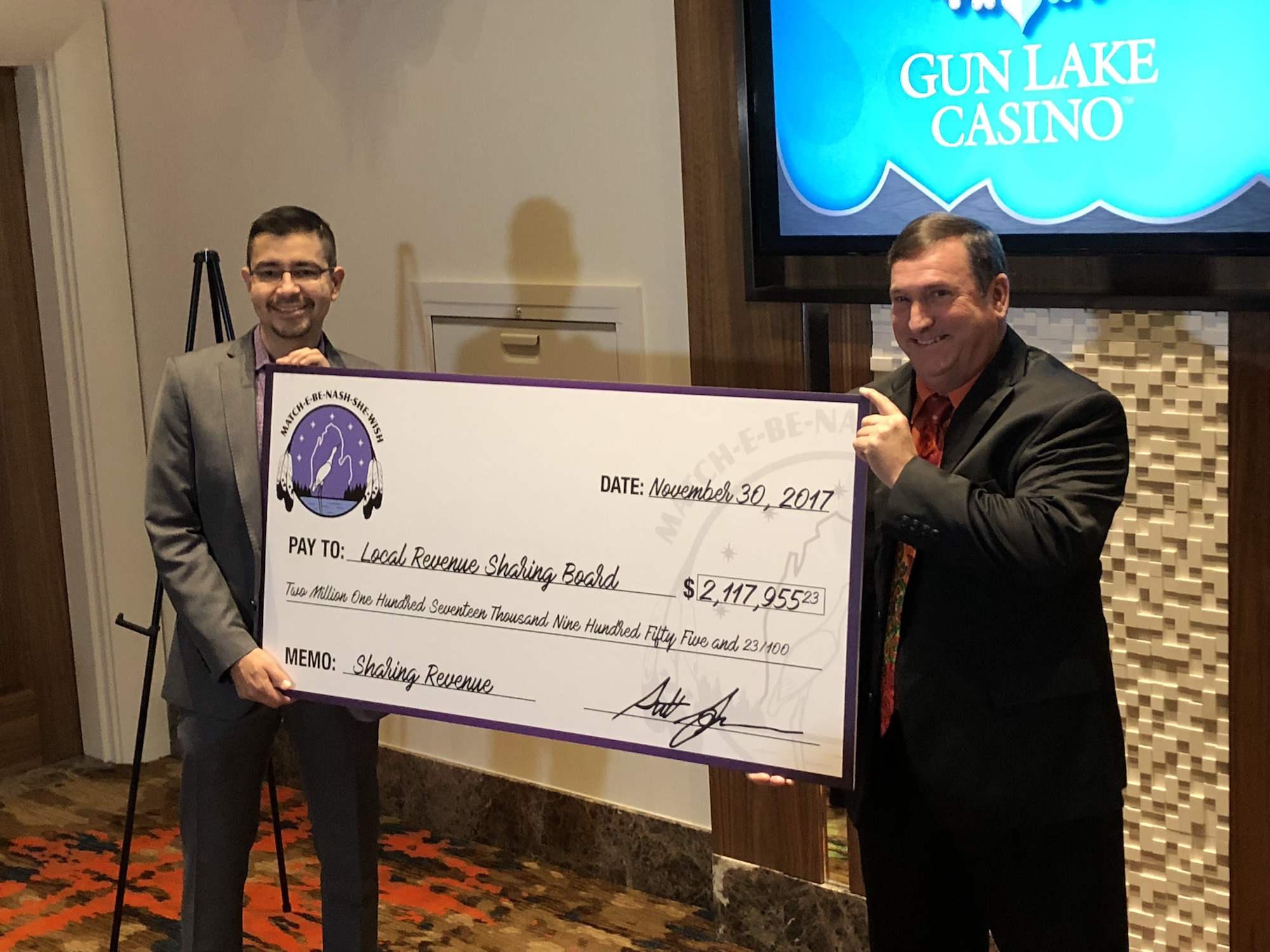 Gun Lake Tribe surpasses $100 million mark in gaming revenues shared in Michigan