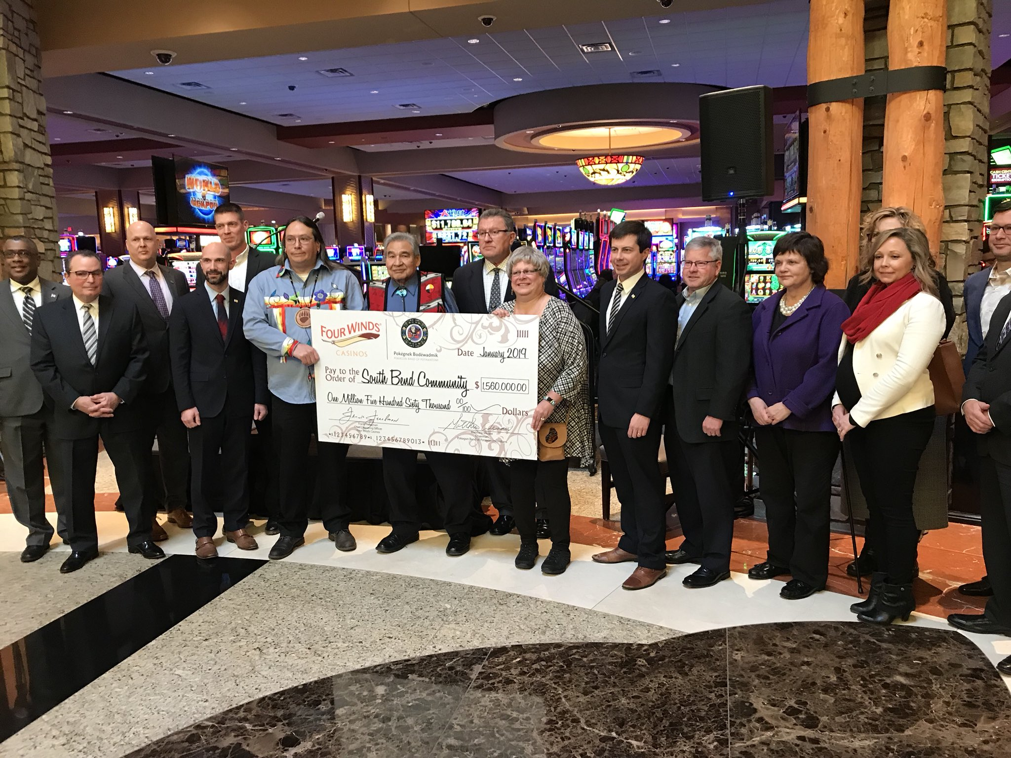 Pokagon Band shares $1.56 million with hosts of casino in Indiana
