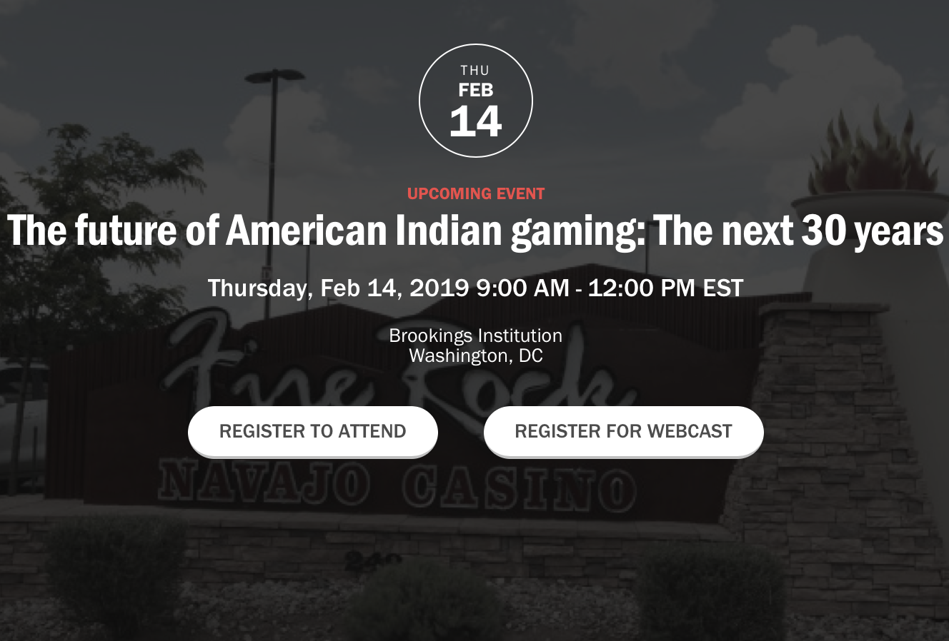 #StateOfIndianGaming Talk: 'The future of American Indian gaming'