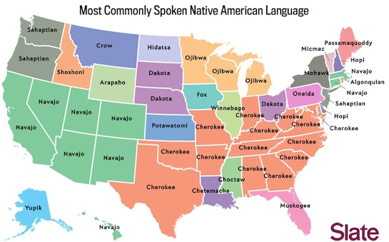 IndianzCom Map shows most commonly spoken Native languages in