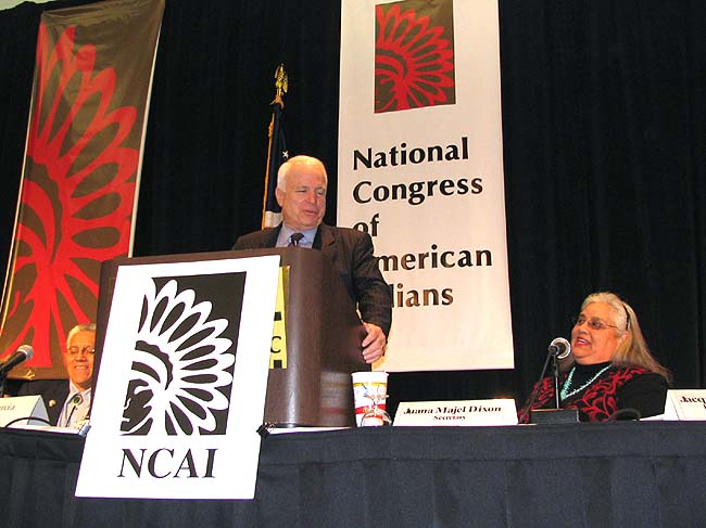 Sen. McCain denies being influenced by tribal casino lobbyists