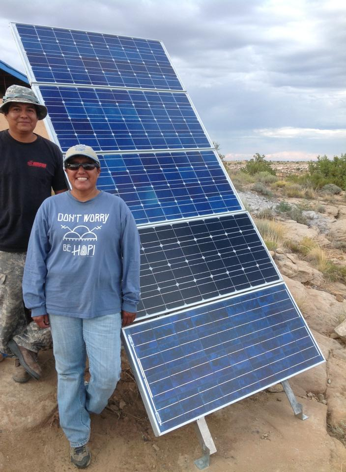 Native Sun News Hopi Woman Brings Solar Power To The People