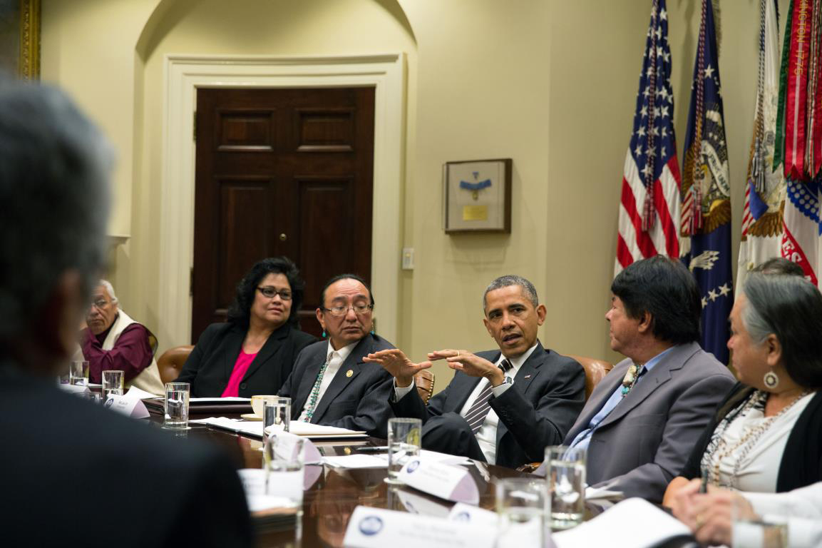 President Obama welcomes 12 tribal leaders to White House