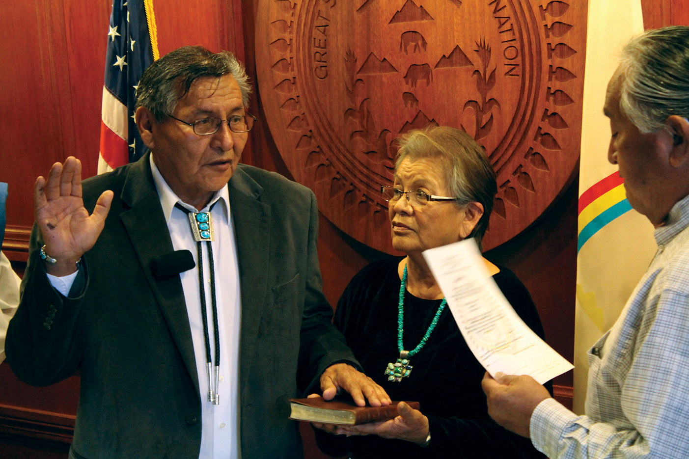 Navajo Nation leader starts second term despite election loss