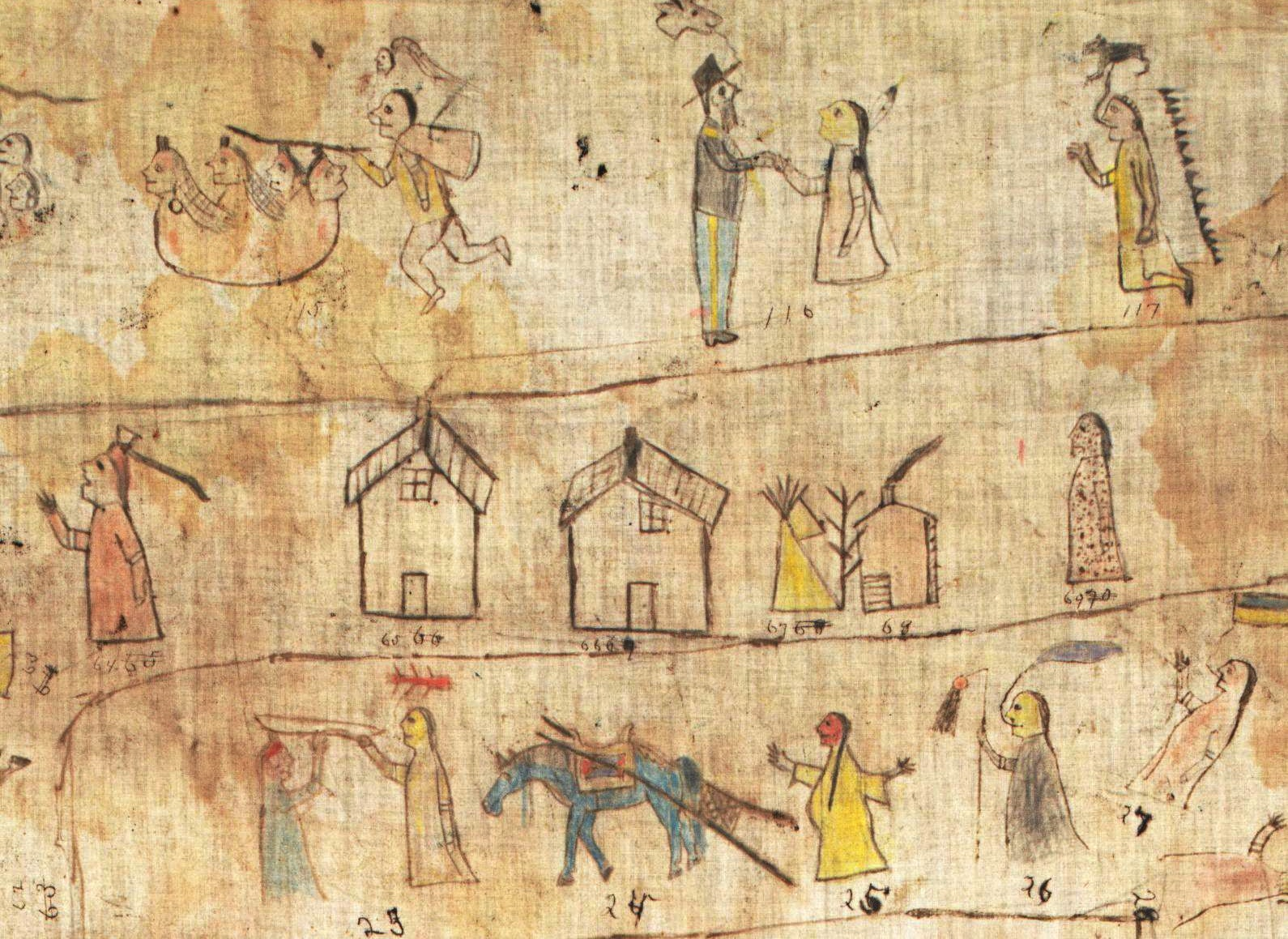 Historic Lakota winter count went unnoticed in trunk for decades