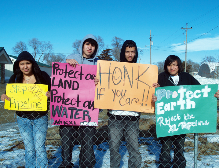 Native Sun News: Native youth take stand against Keystone bid