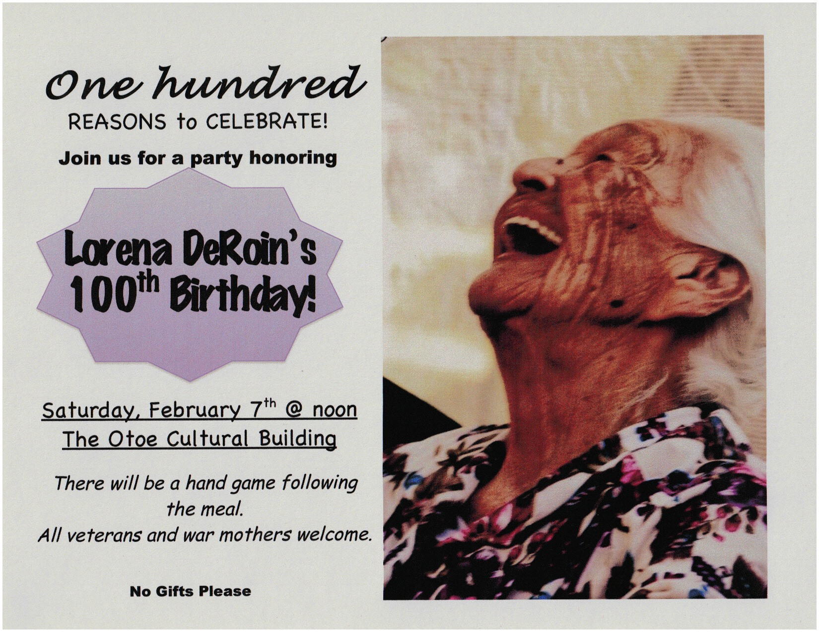 Otoe-Missouria Tribe to mark 100th birthday of oldest member