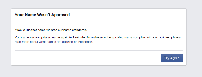 Facebook deactivated account of Rosebud Sioux grandmother