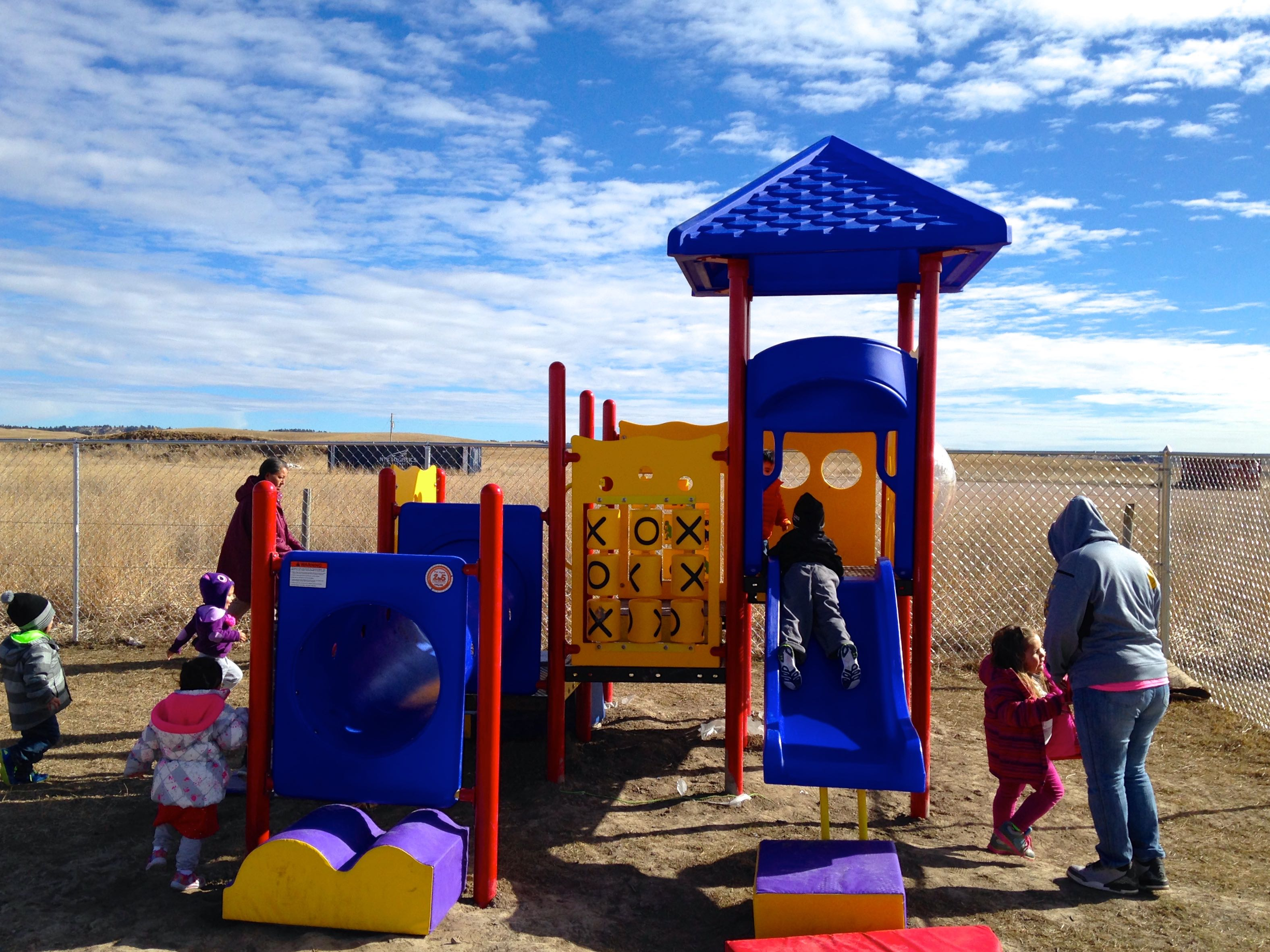 Lakota immersion program at Pine Ridge receives playground