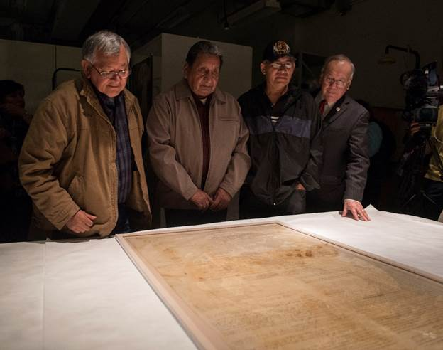 Muscogee Nation helps unveil 1790 treaty for NMAI exhibit in DC