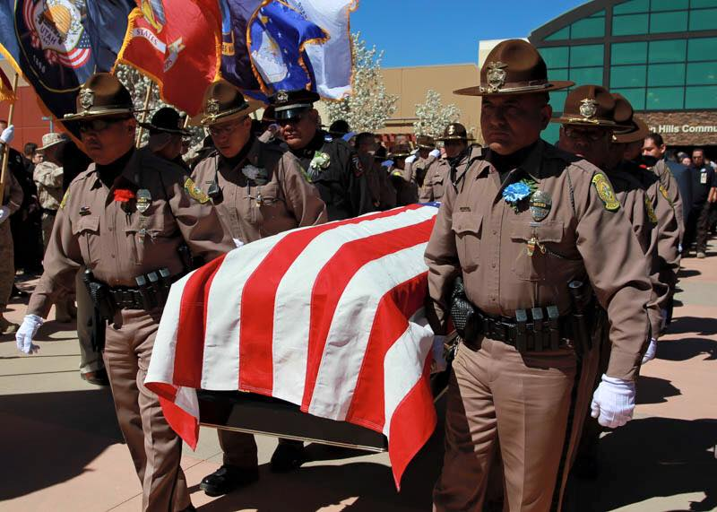 Hundreds pay respects to Navajo Nation officer killed on the job
