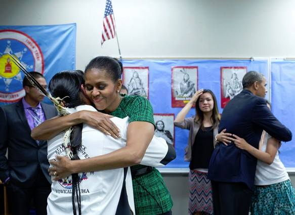 First Lady Obama speaks to Native youth at White House session
