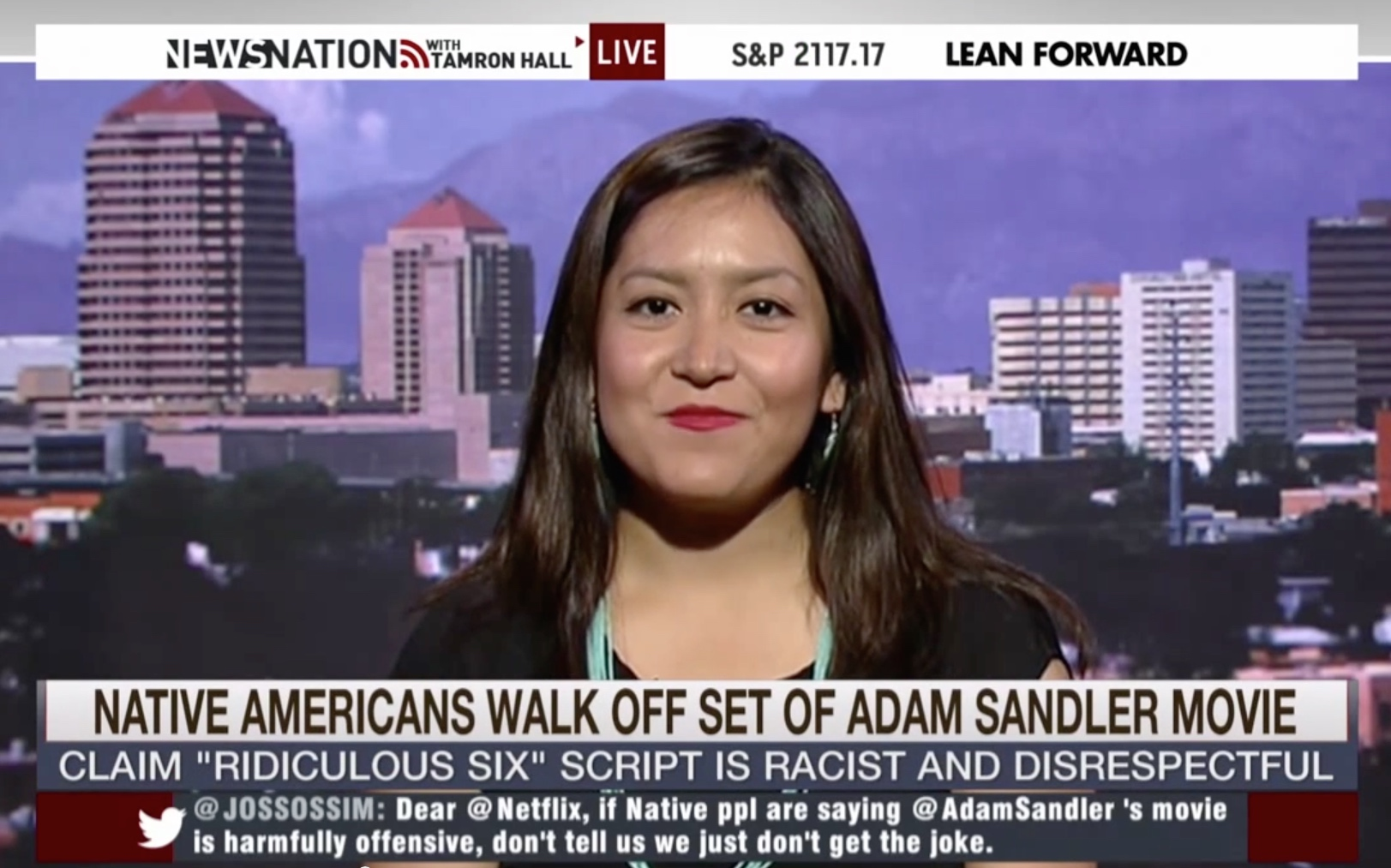 Navajo actress was put in darker makeup for Adam Sandler film
