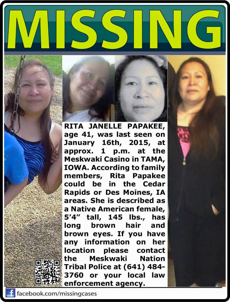 Meskwaki Nation puts up $25K reward in case of missing woman