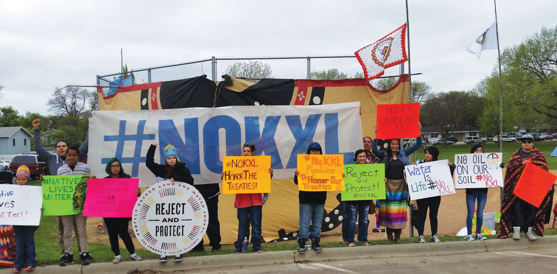 Native Sun News: Keystone protesters greet President Obama