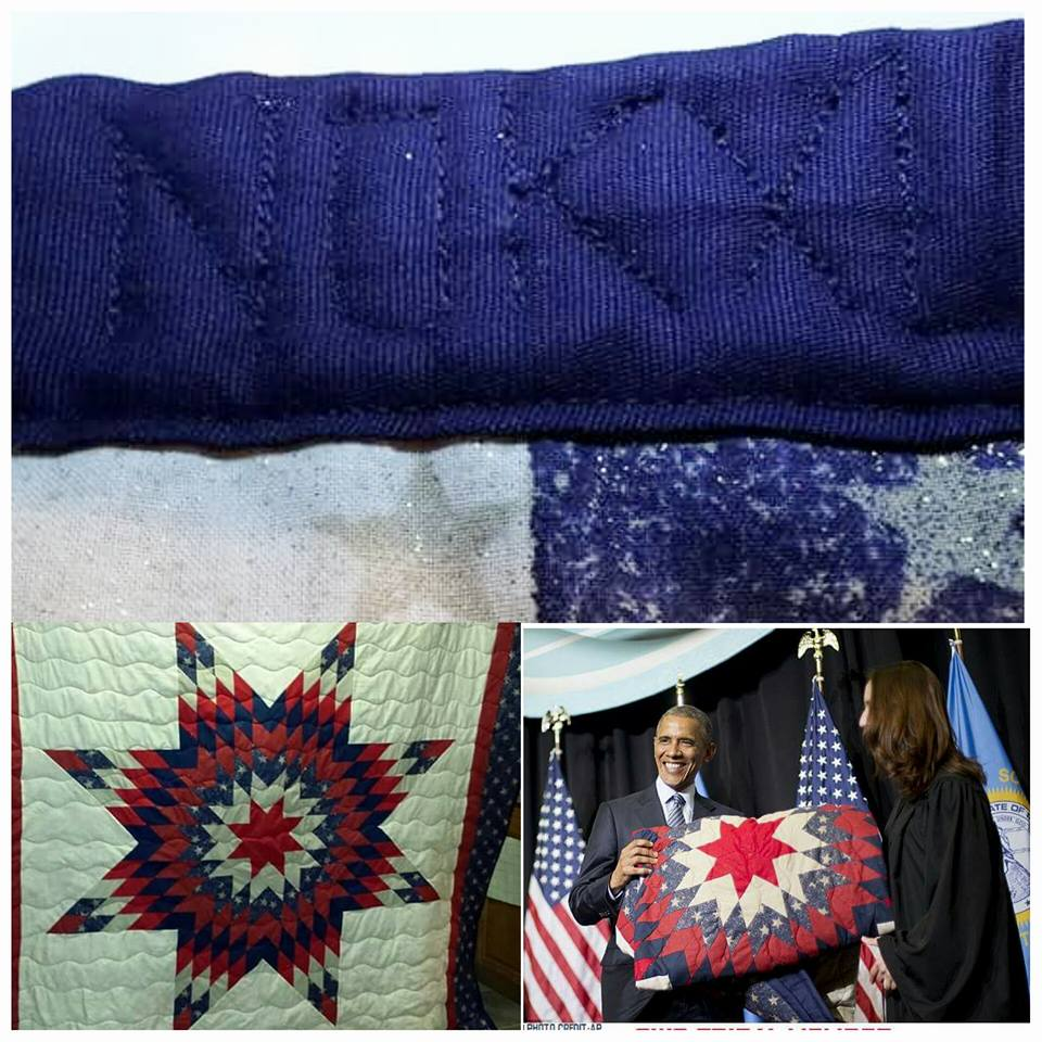 Blanket given to President Obama carries a hidden message