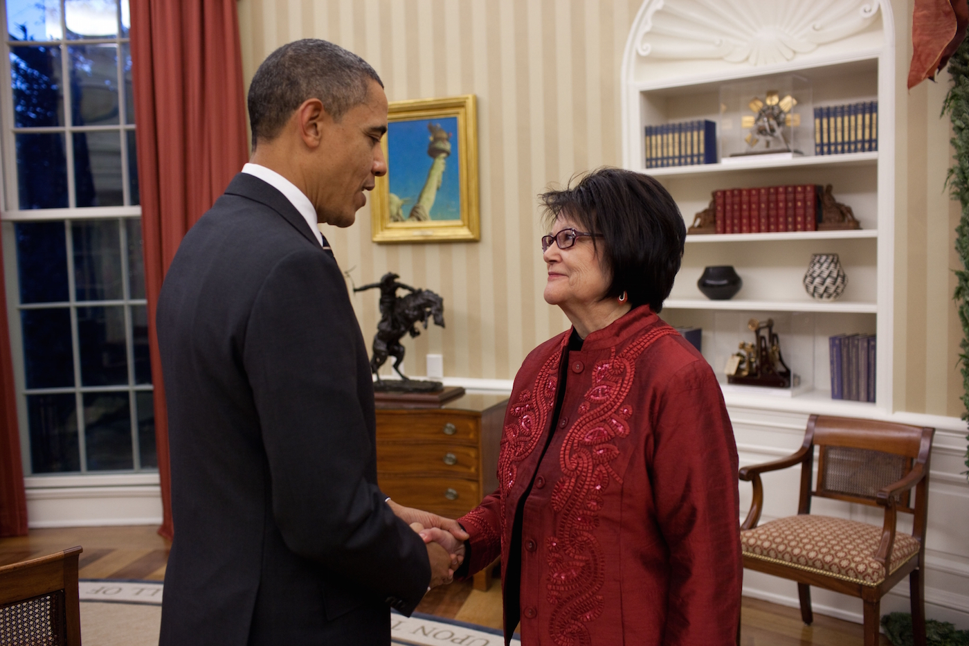Elouise Cobell and Barack Obama