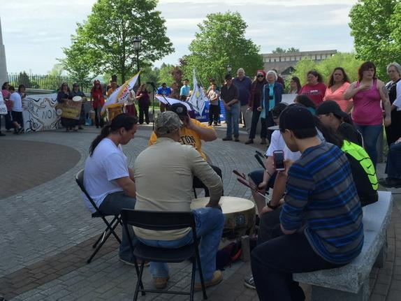Maine tribes hold rally after withdrawing from state Legislature