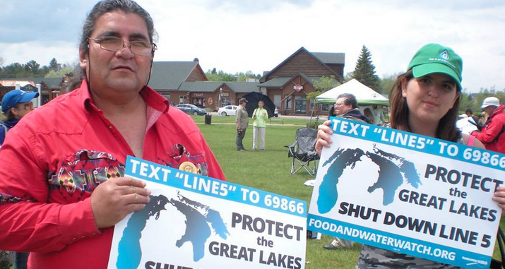 Michigan tribes warn of disaster from pipeline spill in Great Lakes
