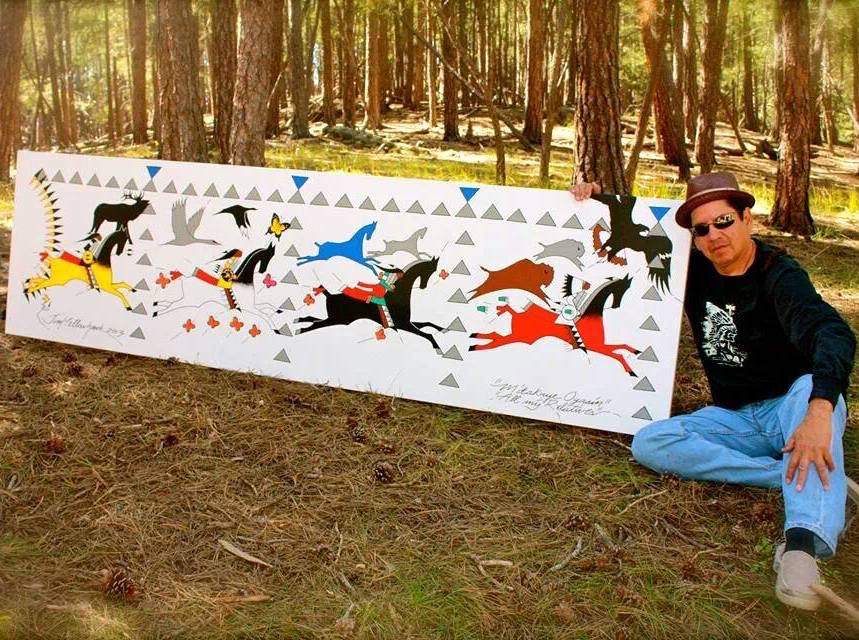 Native Sun News: Ledger art honors Lakota and Maori warriors