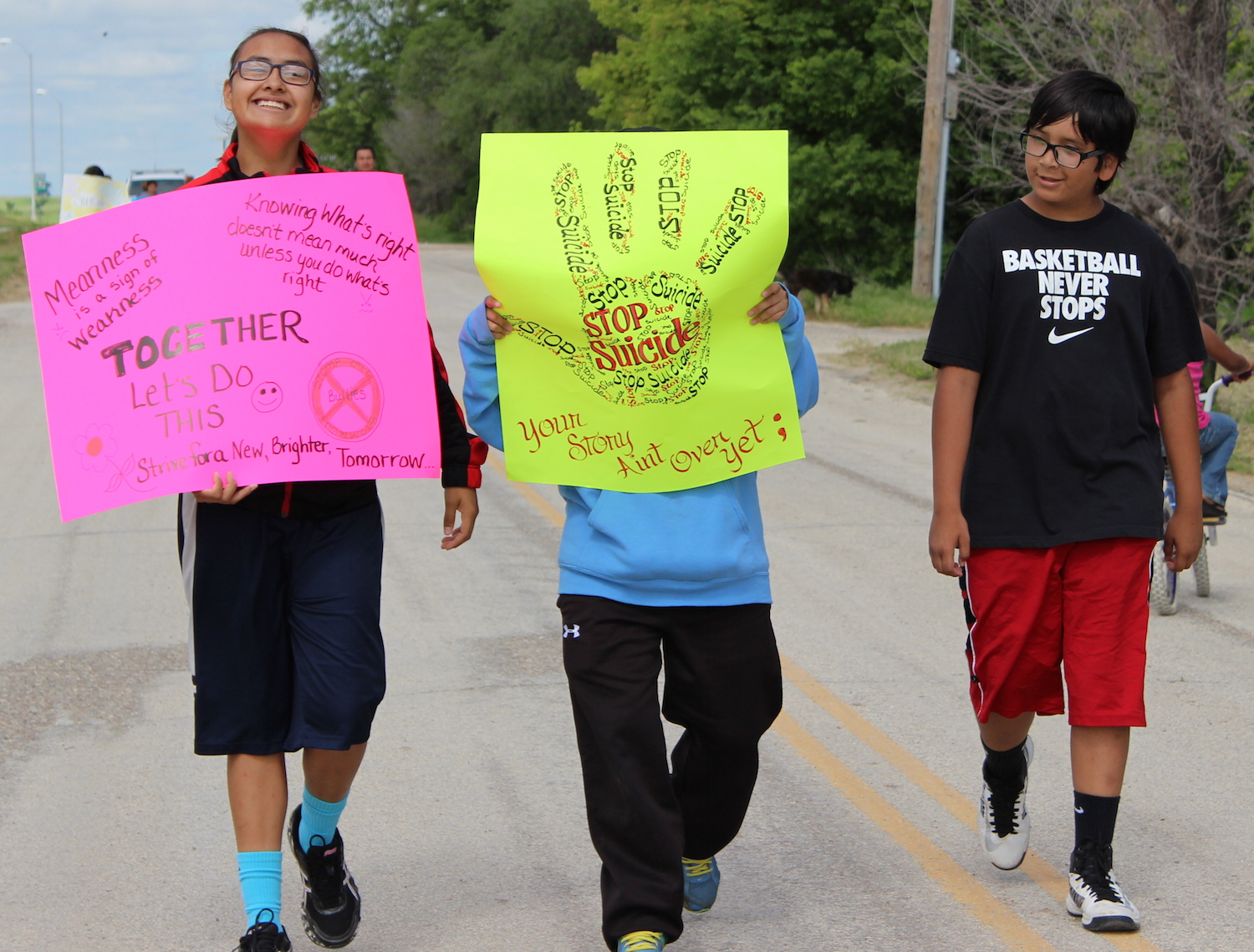 Lakota Country Times: Rosebud youth hold suicide awareness walk