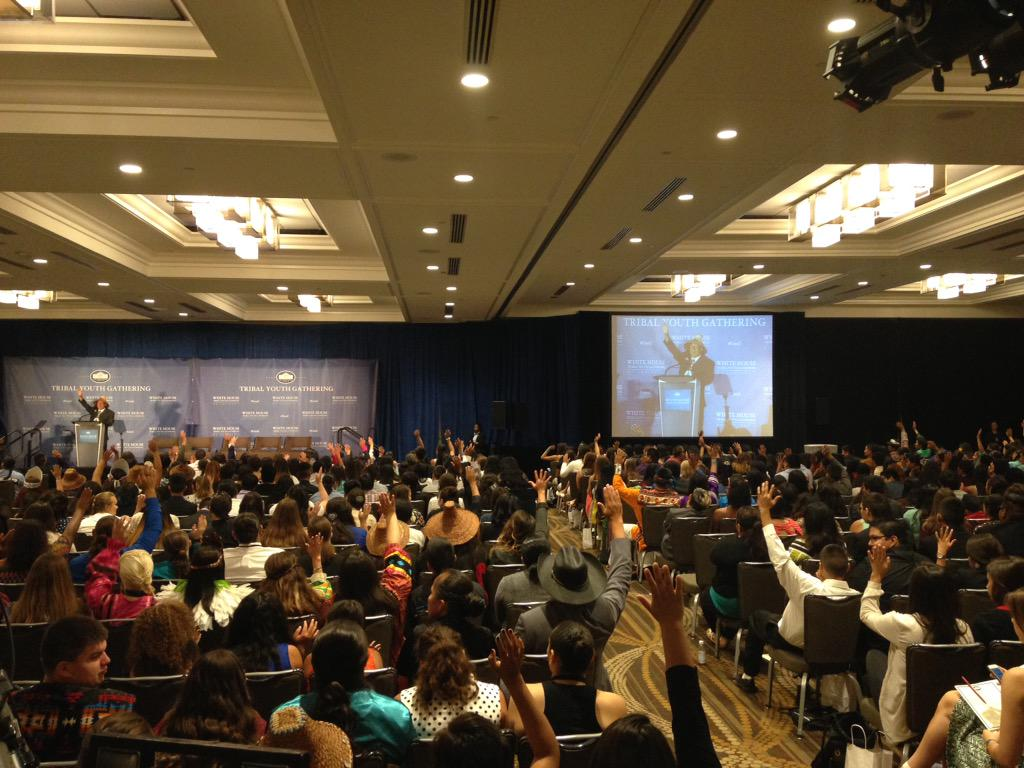 Nearly 900 youth in town for white house tribal youth for Tribal house music 2015
