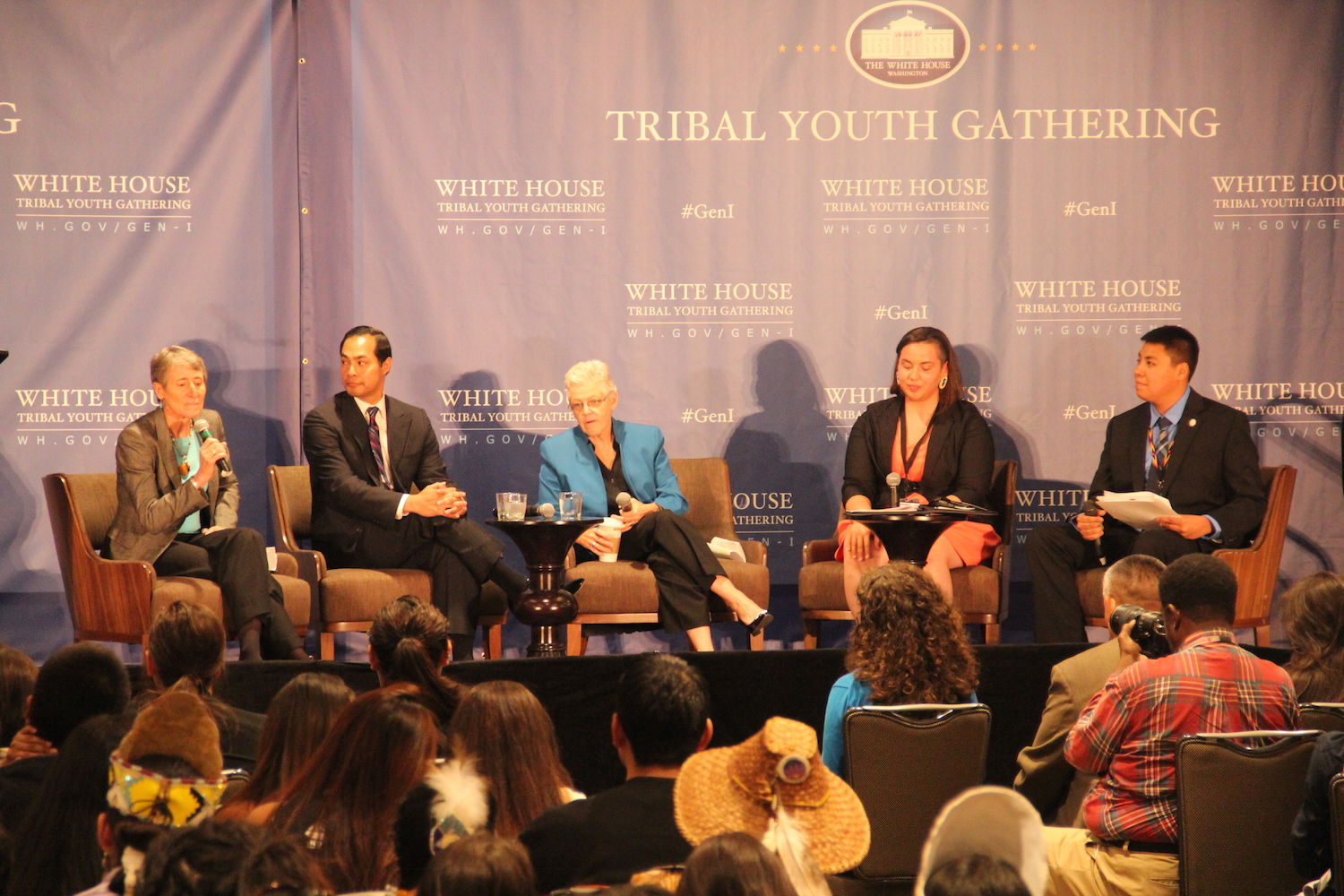 Native youth hear from top officials at historic white for Tribal house music 2015
