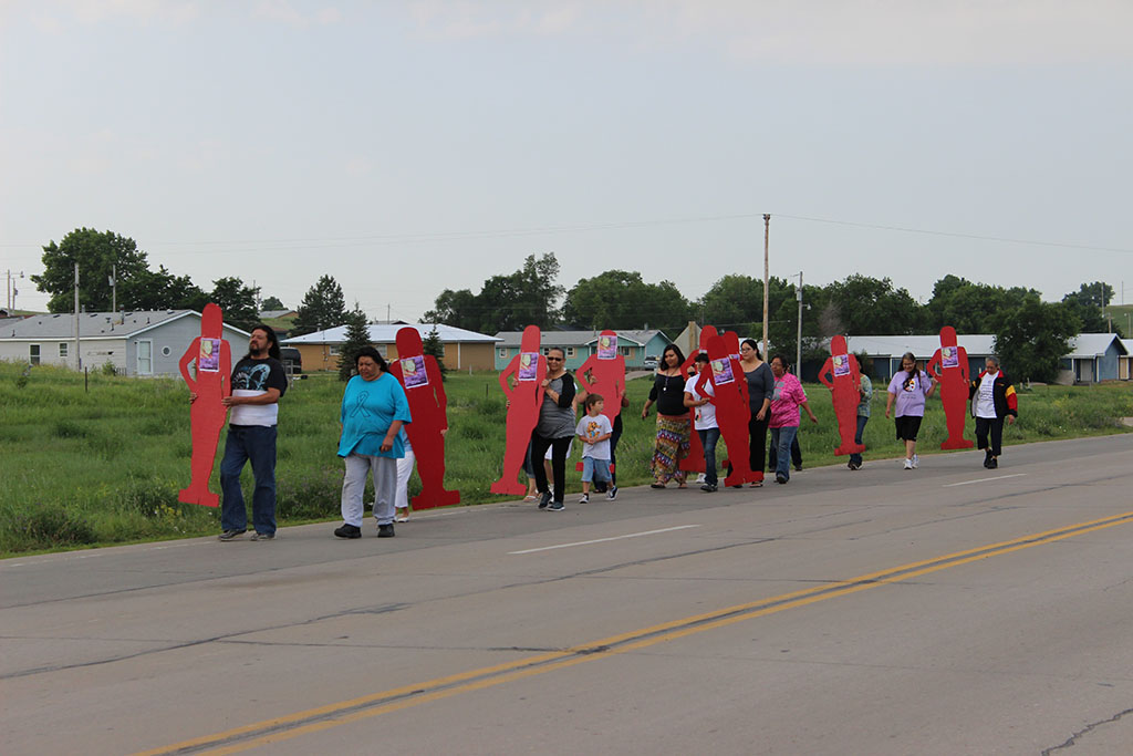Lakota Country Times: Rosebud residents walk to honor victim