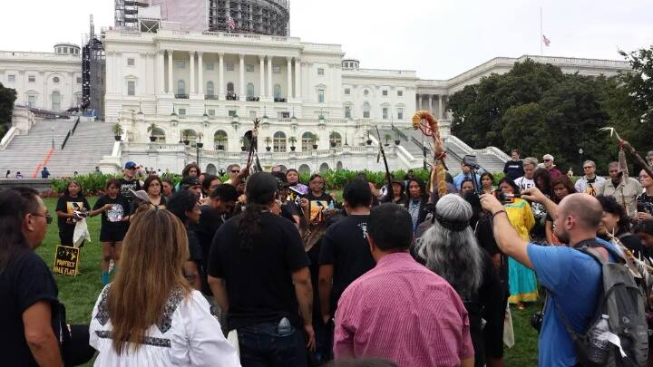 San Carlos Apache Tribe lands in DC to rally for sacred site