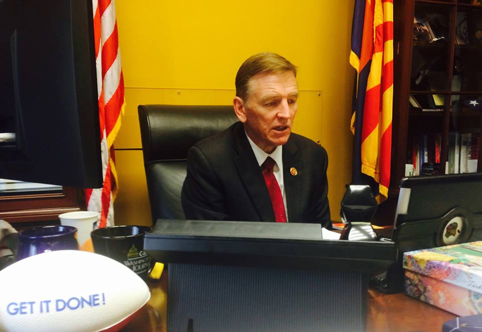 Dear Colleague: Rep. Paul Gosar (R-Arizona) on Save Oak Flat Act