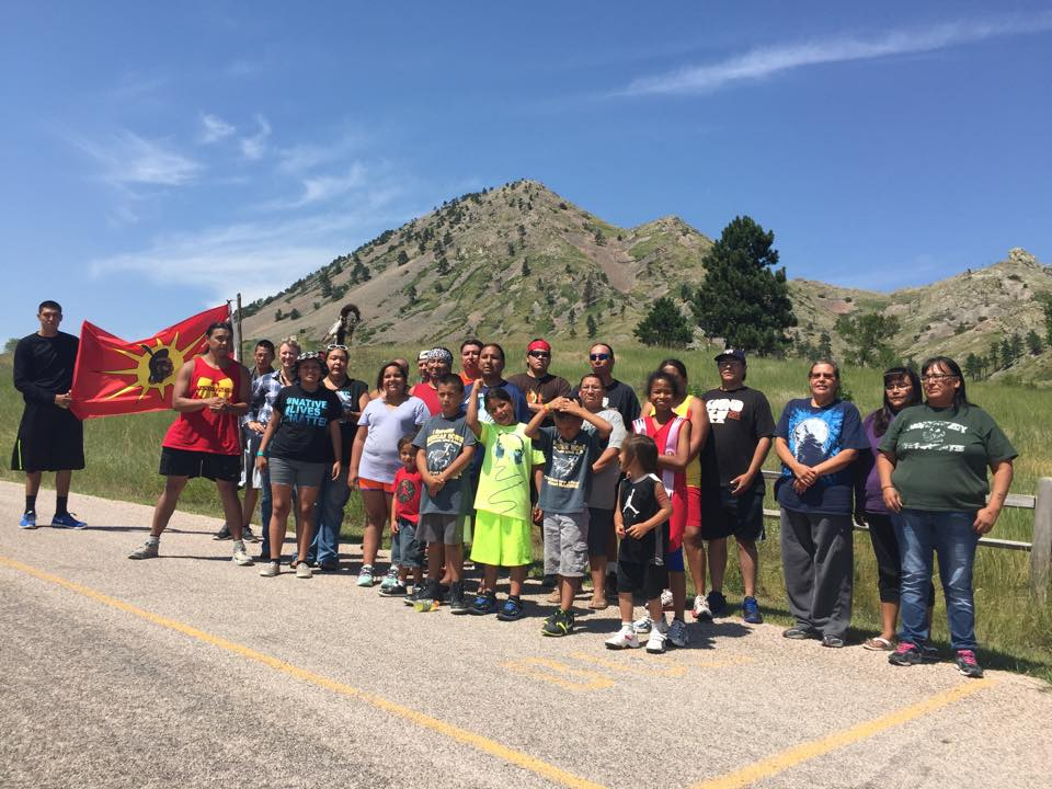 Lakota Country Times: Lakota 57 honored with run to Bear Butte