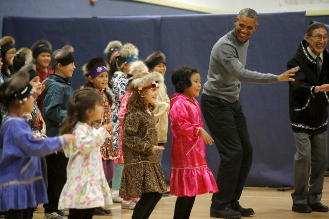 President Obama enjoys unique welcome in Alaska Native village