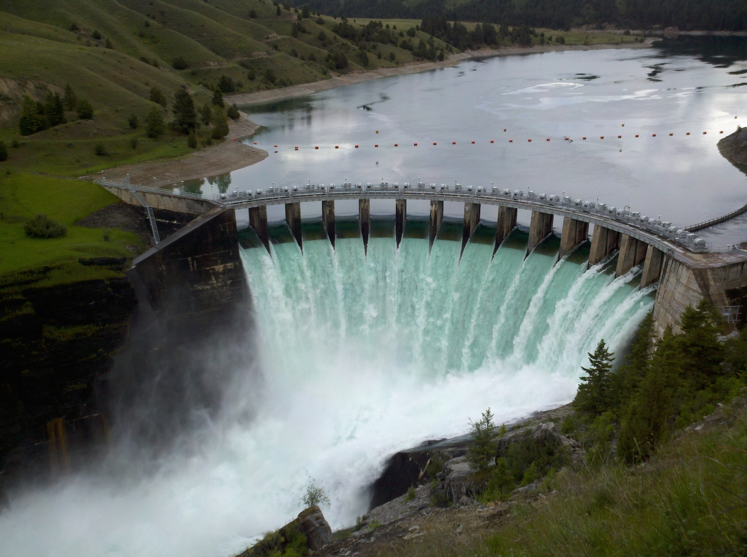 The Kerr Dam in Montana is now known as the Salish-Kootenai Dam. Photo ...