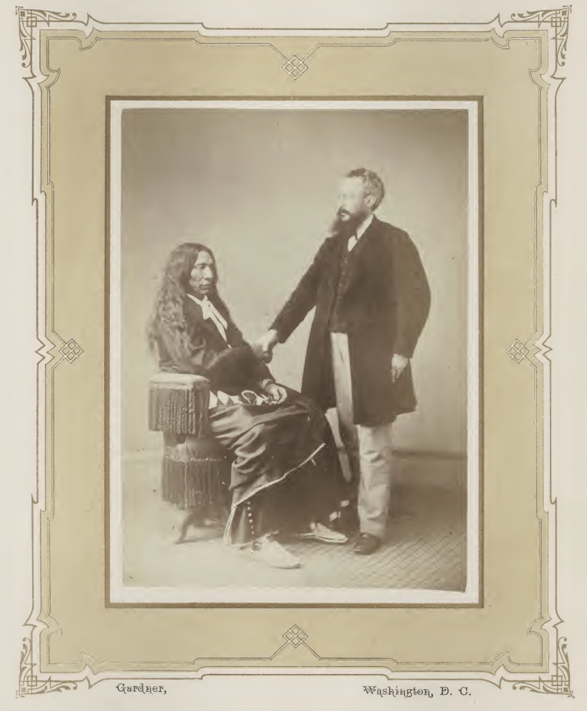 Exhibit features photos of tribal leaders and Abraham Lincoln