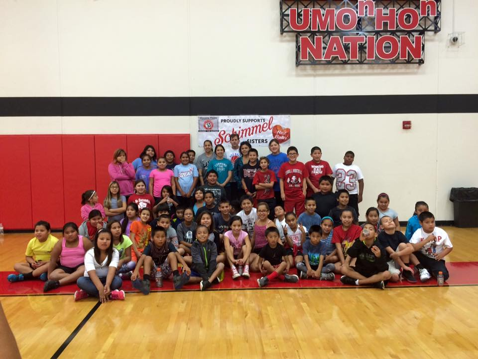 Omaha Tribe hosts basketball stars Shoni and Jude Schimmel