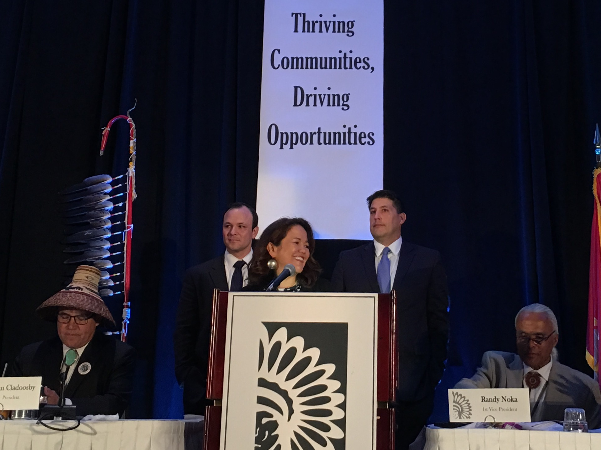 Three presidential candidates make appeals to Indian Country