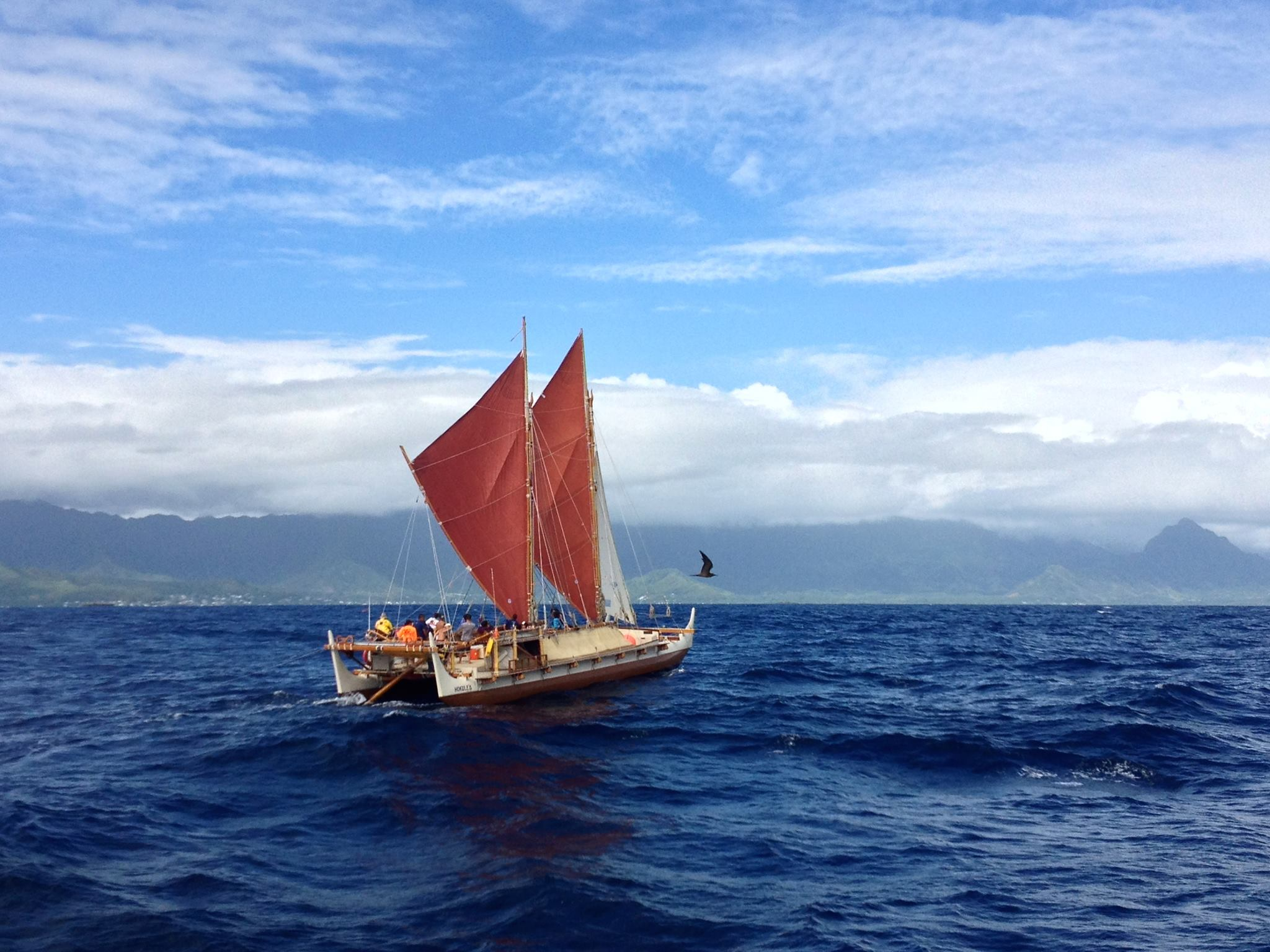 Native Hawaiian canoe circles globe in climate change mission
