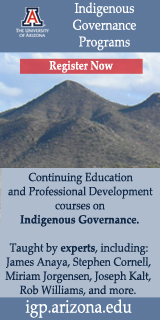 Indigenous Governance Programs, January 2016, Arizona