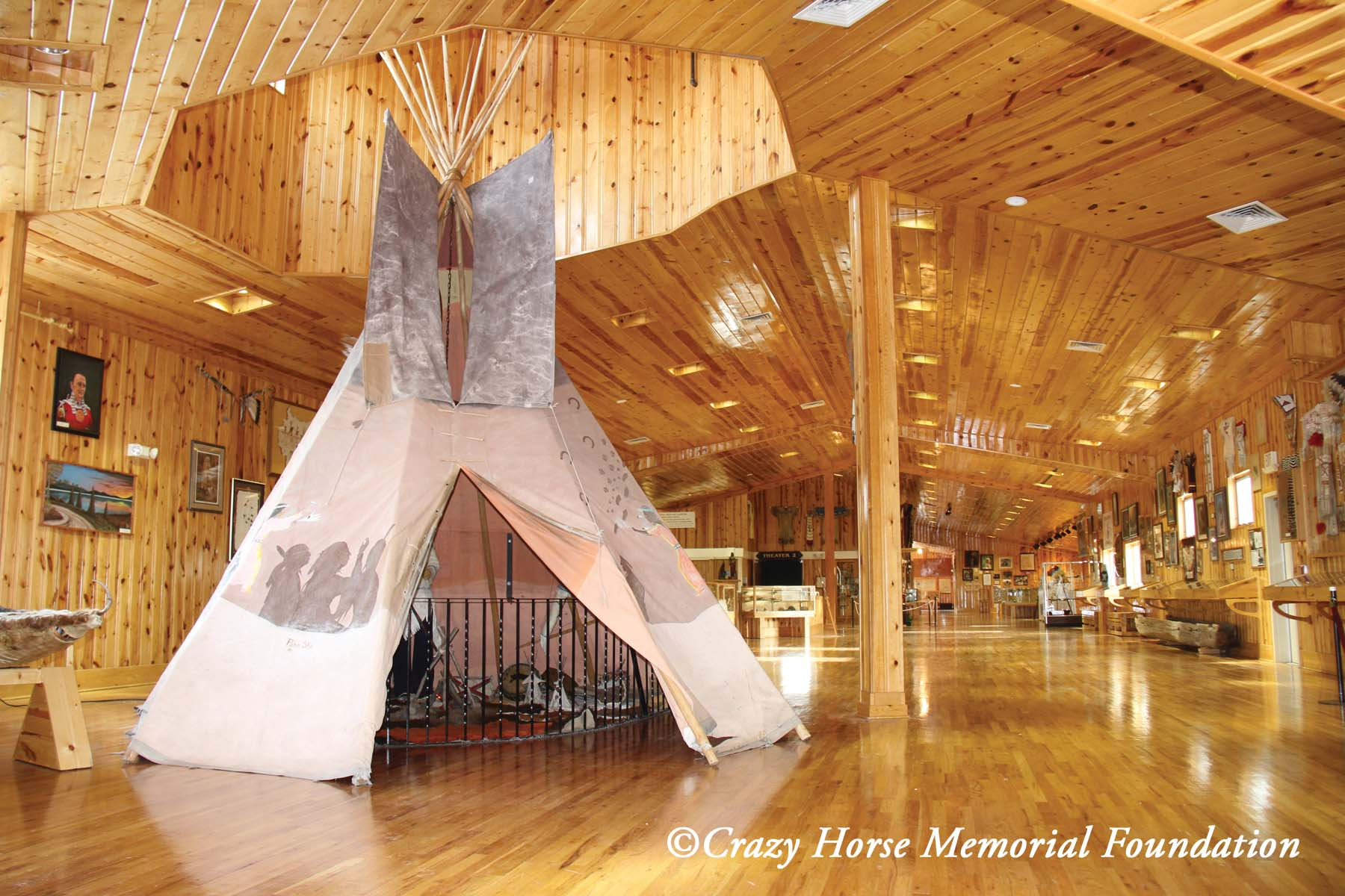 Native Sun News: Lakota artist's tipi on display at Crazy Horse Memorial