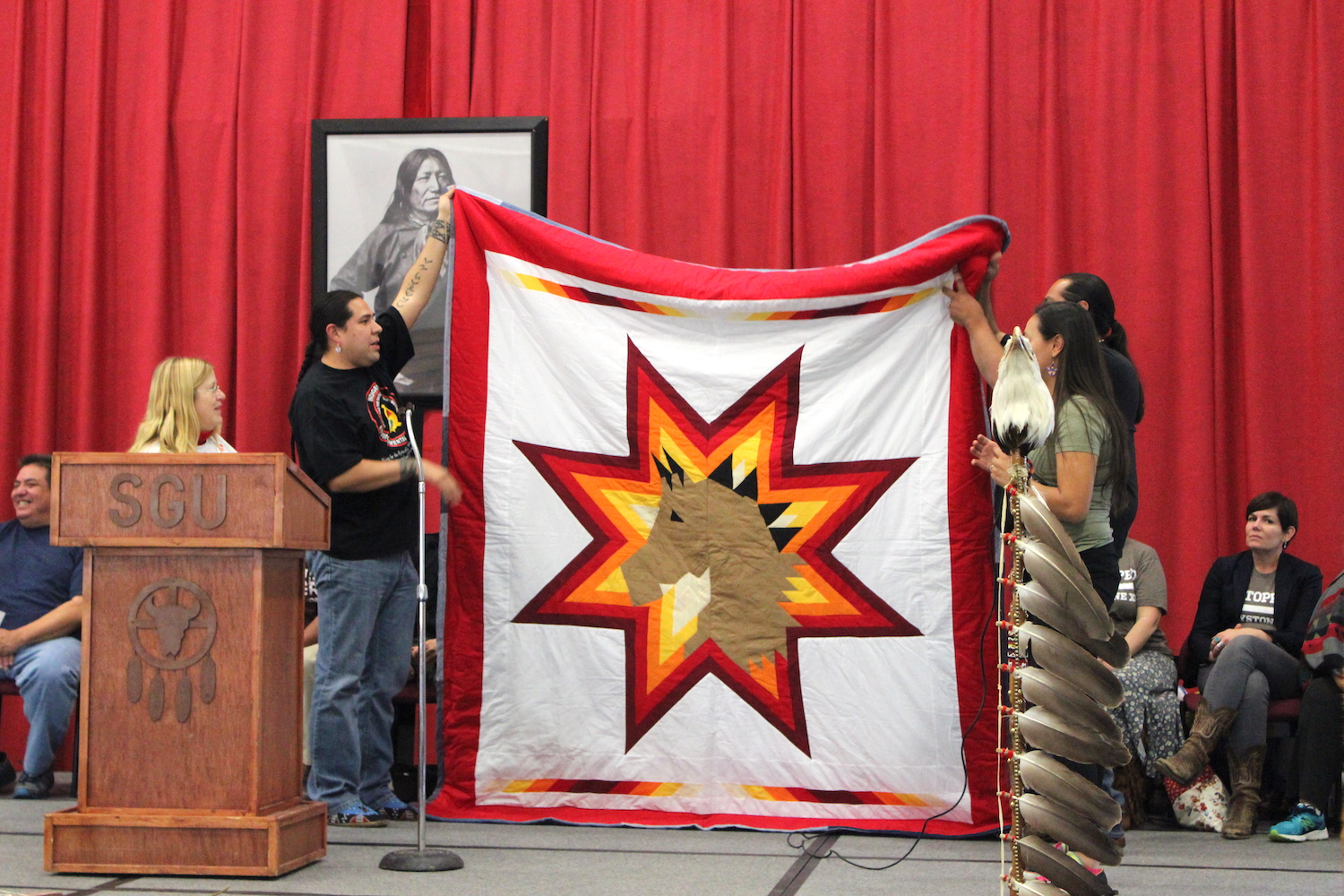 Lakota Country Times: Cowboy Indian Alliance creates unity quilt