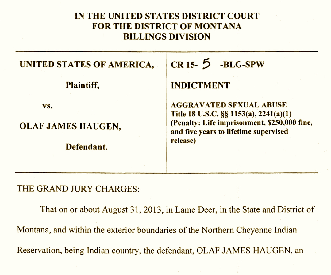 Northern Cheyenne man convicted of aggravated sexual abuse