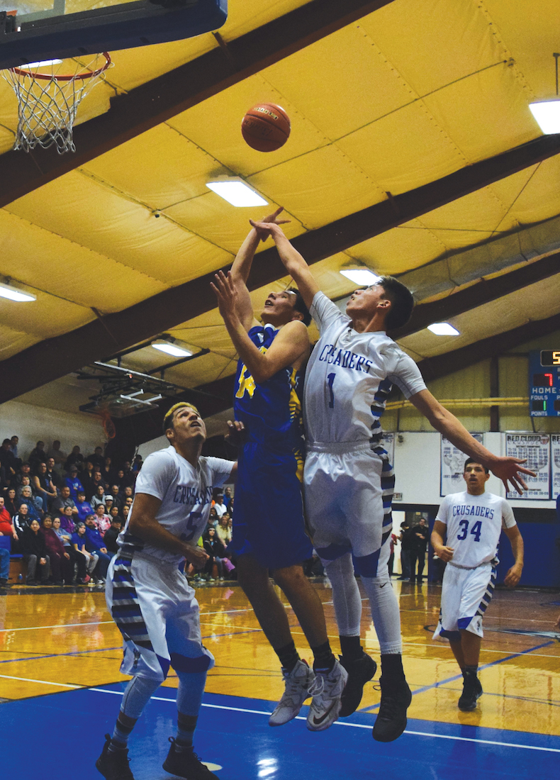 Native Sun News: Rival teams from Pine Ridge battle on the court
