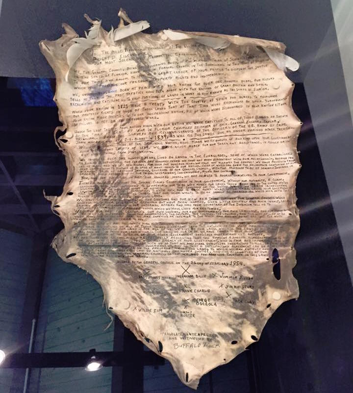 Seminole Tribe showcases long-lost declaration of independence
