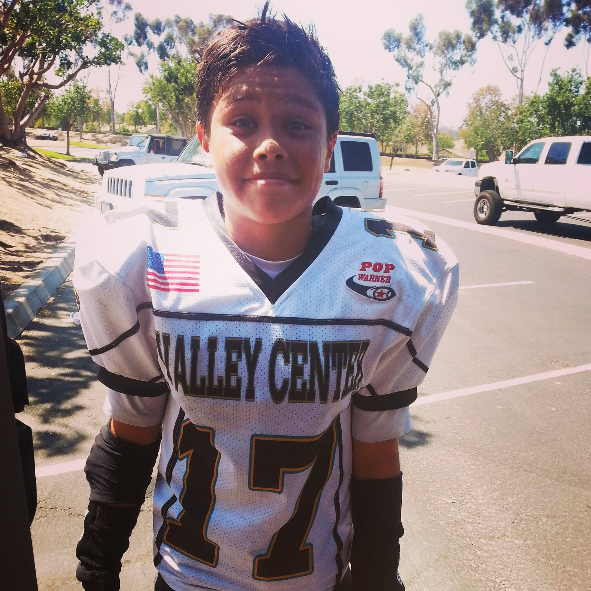 Young football player from San Pasqual Reservation stands out