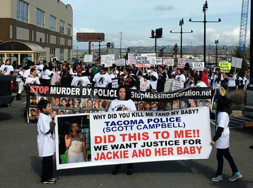 Hundreds march in support of Puyallup woman killed by police officer